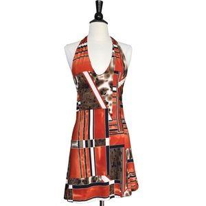 From Italy geometric halter tunic